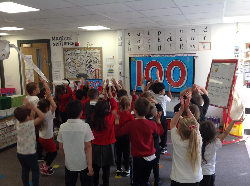 Purple class did 100 different exercises.