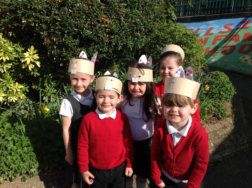 Purple Class made their own Easter Bonnets.