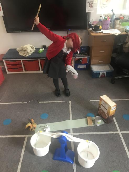 Our EYFS group have been learning about weights and measure.