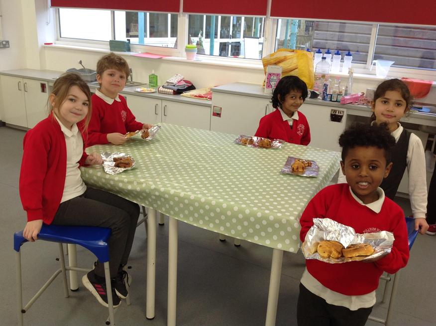 We have been using the food tech room to do lots of baking!