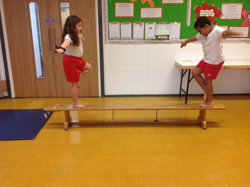 Balancing on a beam