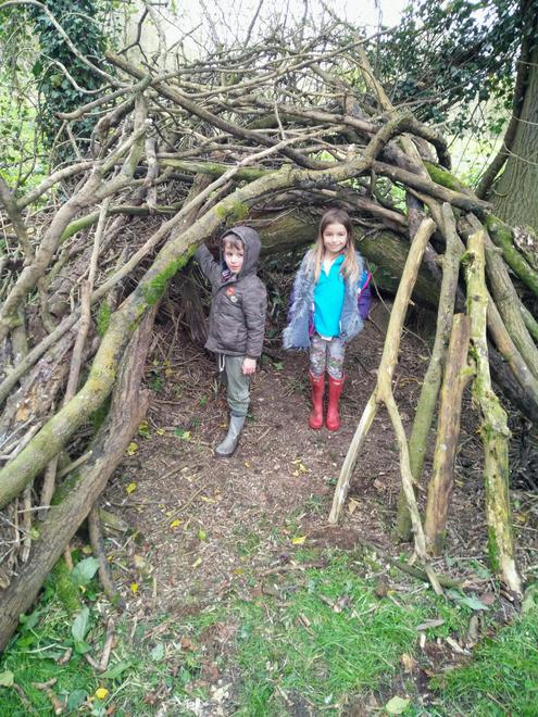 E and J have been building a den