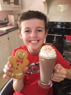 Chocolate milkshake and gingerbread