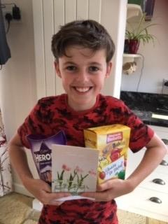 Goatacre Manor said thank you with a card & sweets