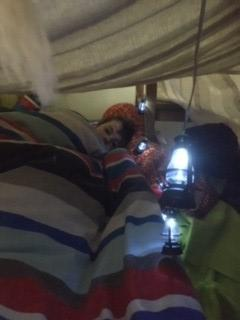W built a den and had a camp out