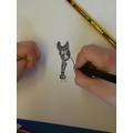 A pointillism dog!