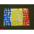 Combining flag creating with pointillism