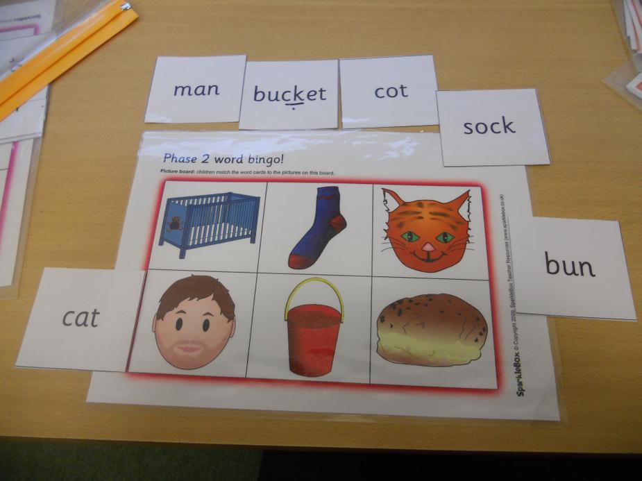 Word bingo - whole word reading