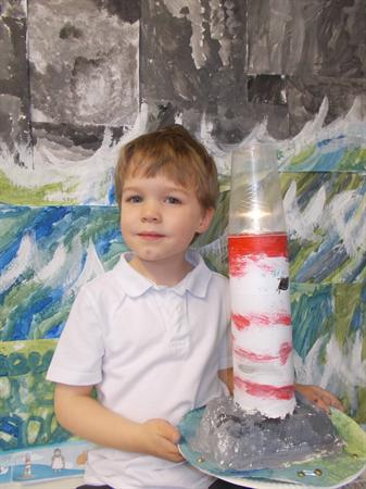 We made Lighthouses with a light for Grace Darling