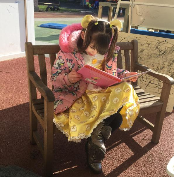 Enjoying a quiet moment on World Book Day