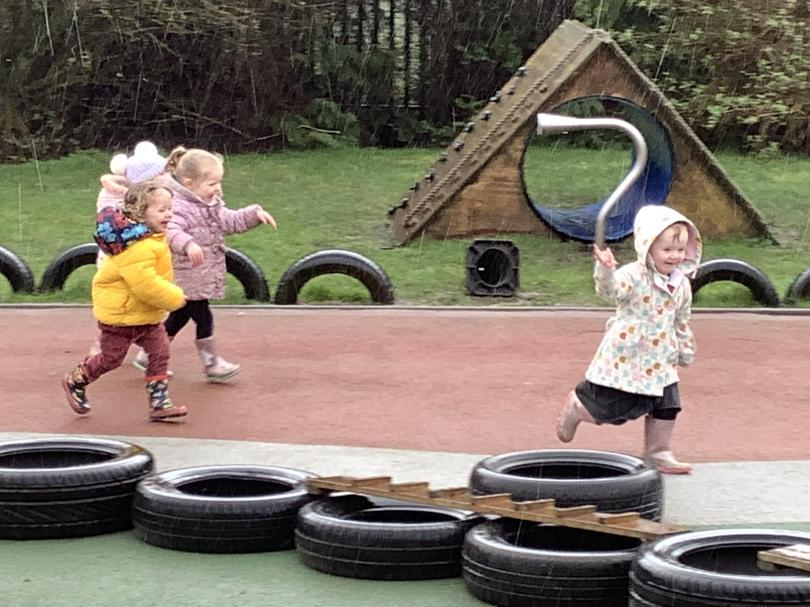 We play out in all weathers!