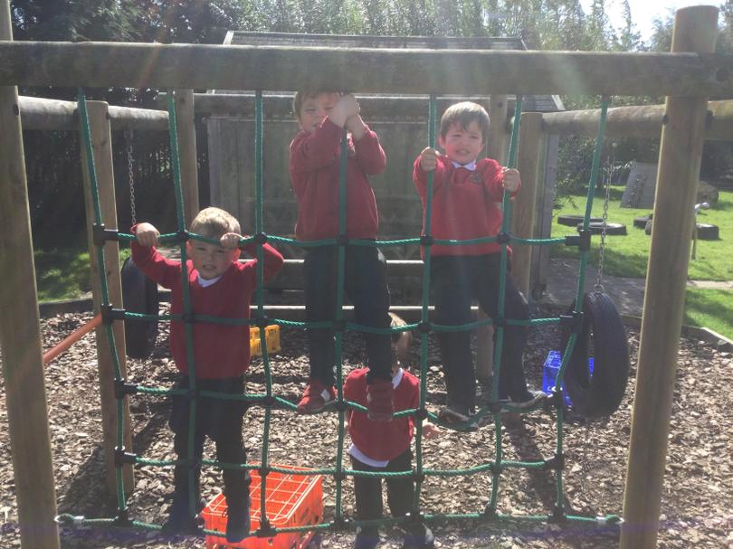Another climbing frame with lots to explore