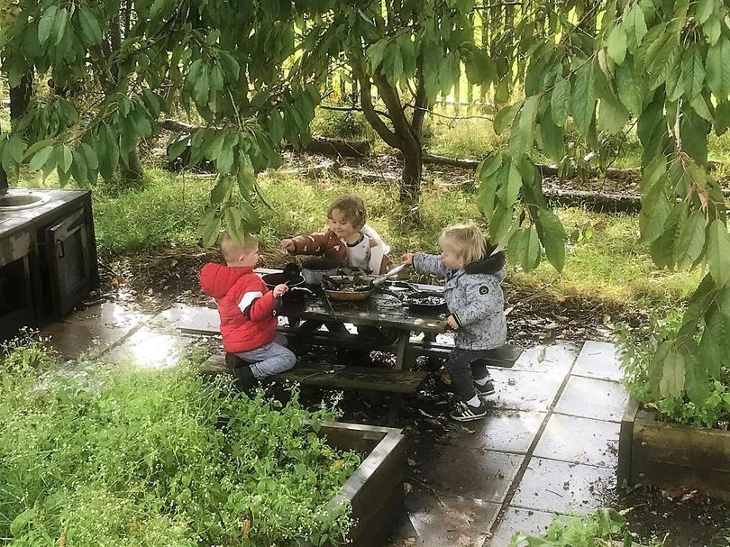 Dishing up the dirt in the mud kitchen