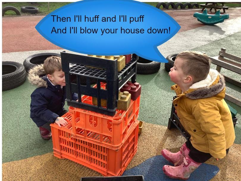 Imaginative play following a traditional tale
