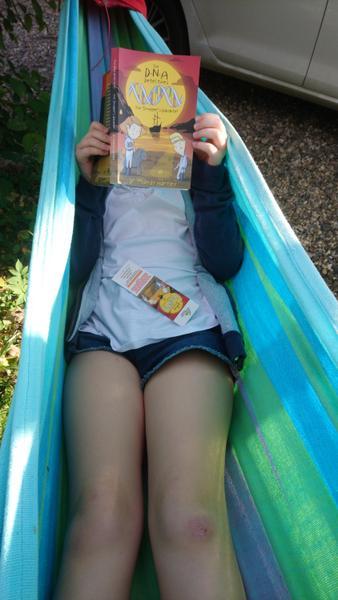 Reading in the garden hammock is great!