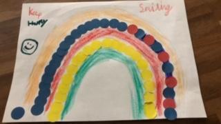 ...creating beautiful art to cheer everyone up! :)