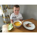 Duckbilled dinosuar food tasting