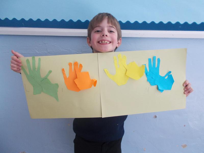 ...name writing in British Sign Language