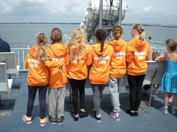 Posing in our Isle of Wight 2012 hoodies.