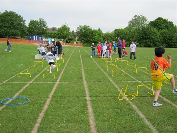 The hurdles activity!
