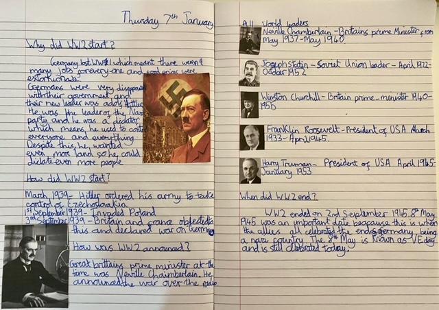 Matthew's World War 2 report