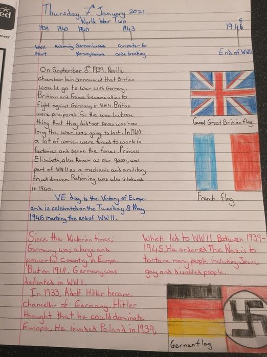 Emily's World War 2 report