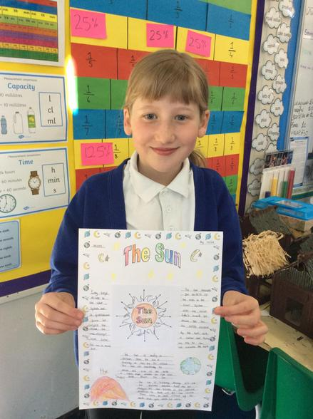 We've also been learning about the Sun this week