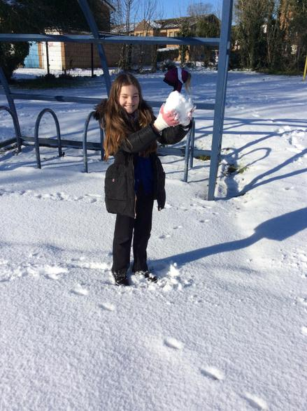 This week we had great fun in the snow!