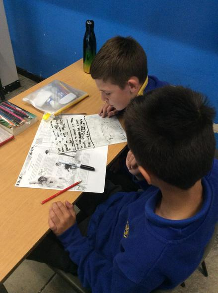 In English, we wrote short postcards, inspired by the Monsterology book.