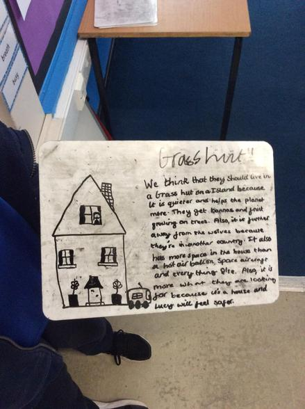 In English, we wrote some persuasive speeches based on our new class book.