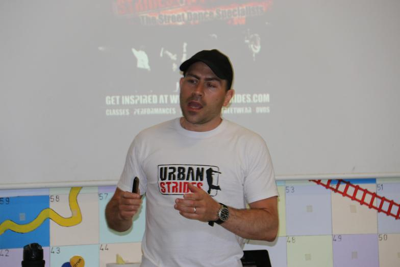 Today we met Andy Instone from Urban Strides. What an inspiring man!