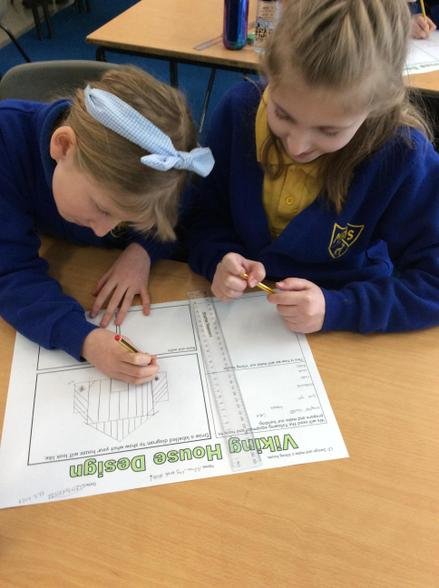 We are planning our Viking long houses in our DT lesson