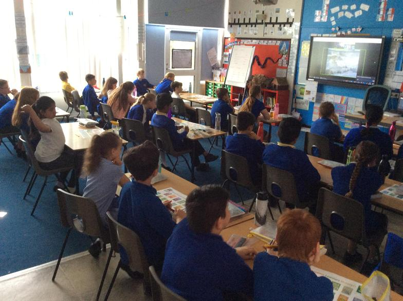 This week we had an online Live lesson  with the Eden Project.