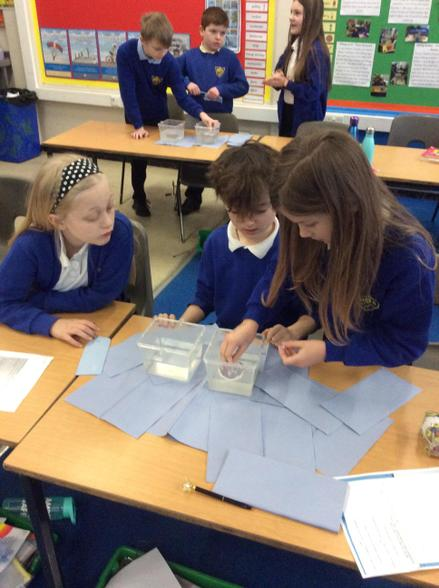 In Science this week, we investigated the force of upthrust in fresh and salty water.
