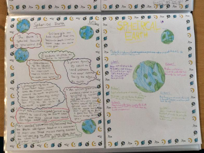 In Science this week we looked at evidence which helps to prove that Earth is spherical.