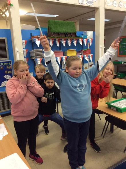 In RE, we created some freeze frames to show a scene from the story of Moses