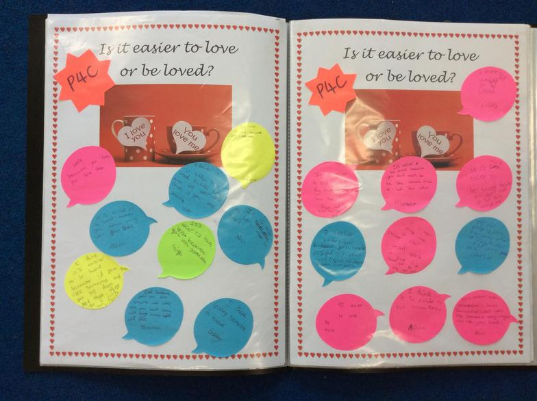 In PSHE/ P4C we've talked about relationships.