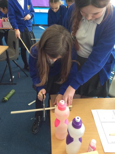 In DT, we measured and cut some wood for the frames of our Viking houses...
