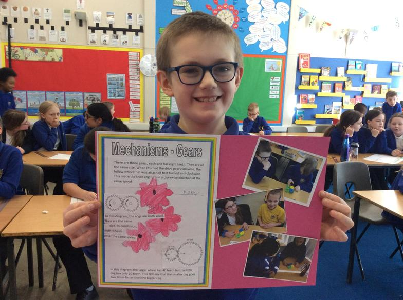 Harry was very proud of his work in Science