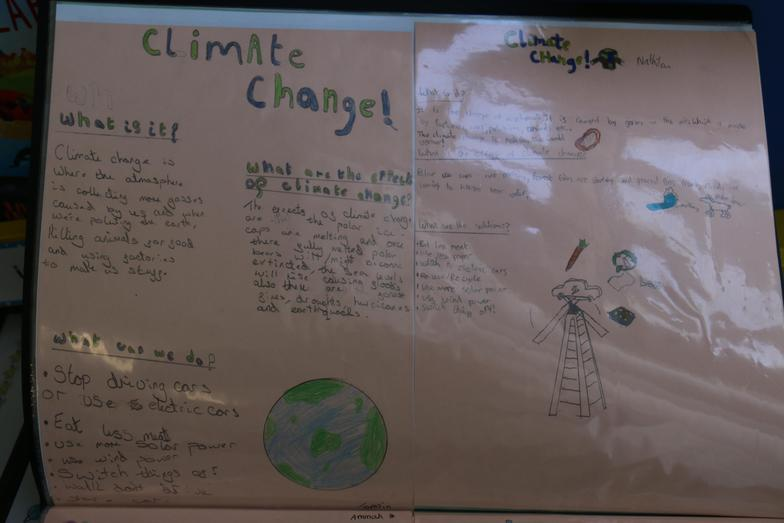 In Geography we have been learning about Climate change