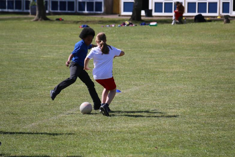 Girls are good at football too!