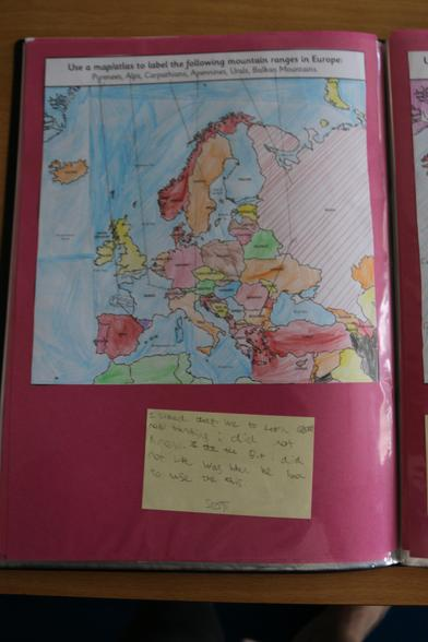 We learnt how to use the index to find a place in an atlas.