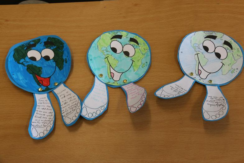 These are our Earth Day mascots