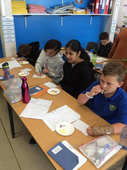 For DT, we tasted some ingredients in preparation for making our pizzas.