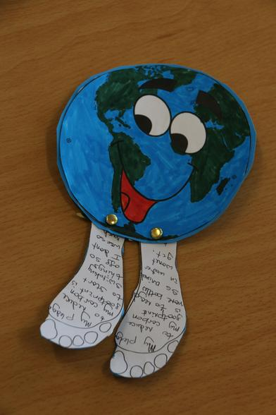 My mascot will remind me to think about what I can do to help our planet