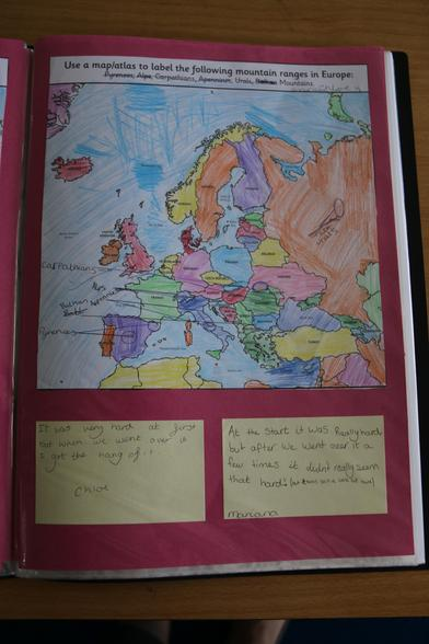 In Geography we learnt how to use an atlas.