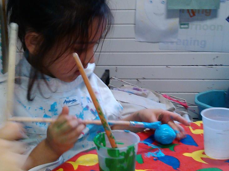 Creating masterpieces.
