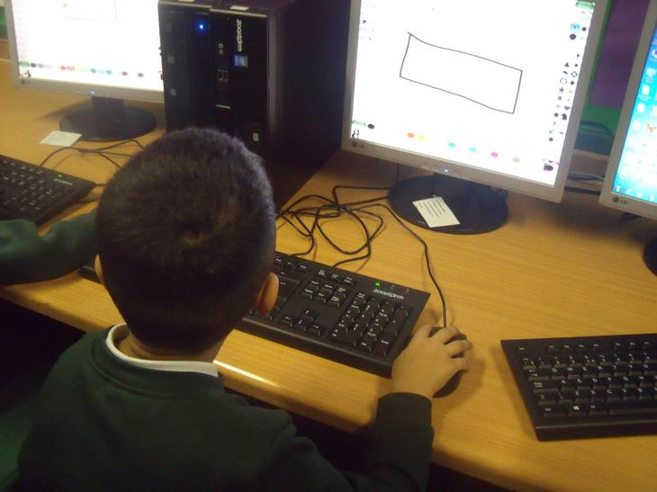 ICT lessons in the ICT suite