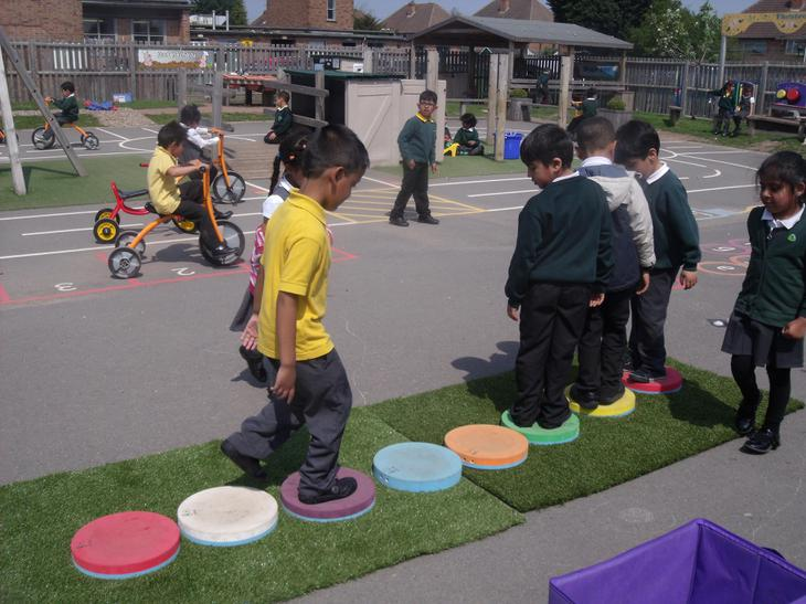 Musical Stepping Stones in the Outdoor Area