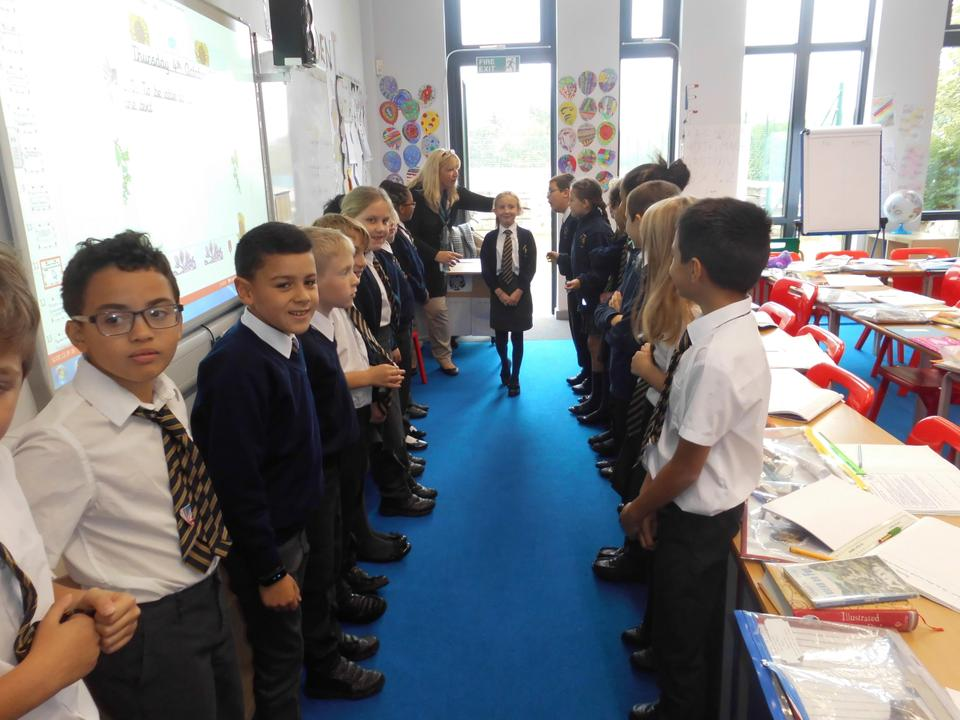 We took part in a conscience alley activity related to our book 'Friend or Foe'.